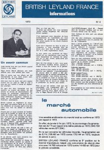 Bulletin British Leyland France