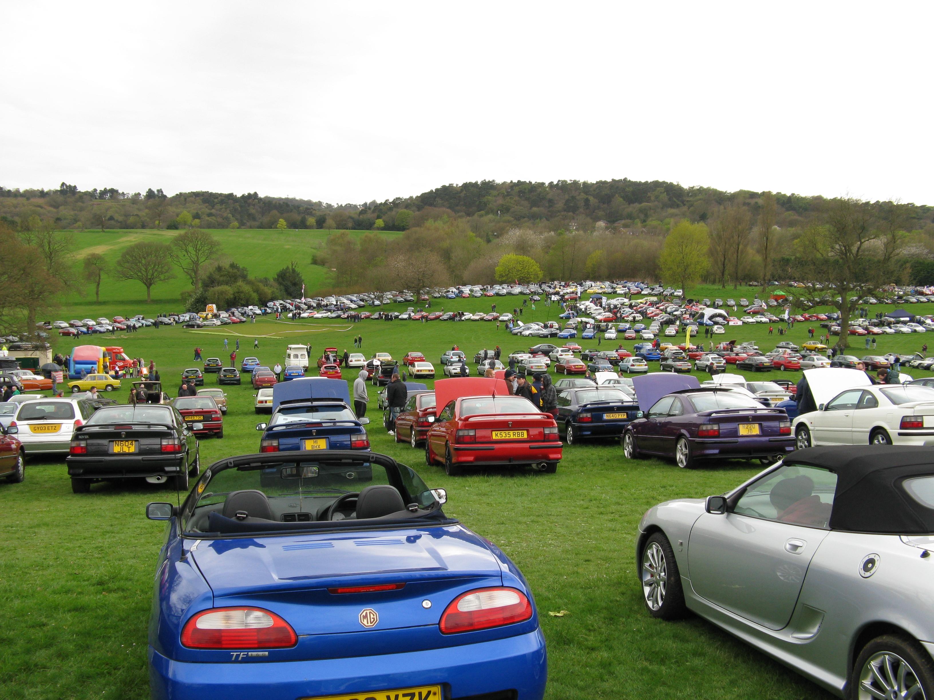 Edition 2015 de Pride of Longbridge, environ 3000 voitures présentes