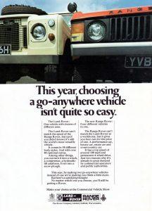 Publicité Land Rover, 1971