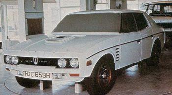 Prototype P8, 1970. Le style est alors presque finalisé.