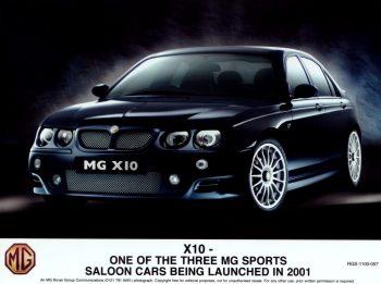 La future MG ZT, révélée en novembre 2000 sous son nom de code X10