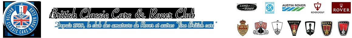 British Classic Cars et Rover Club (BCCRC) Logo